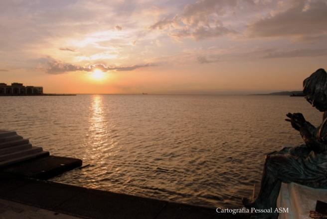 Trieste. O fim do dia sobre o Adriático era sempre tão lindo que o registo fotográfico a esta hora teve uma cadência diária...
