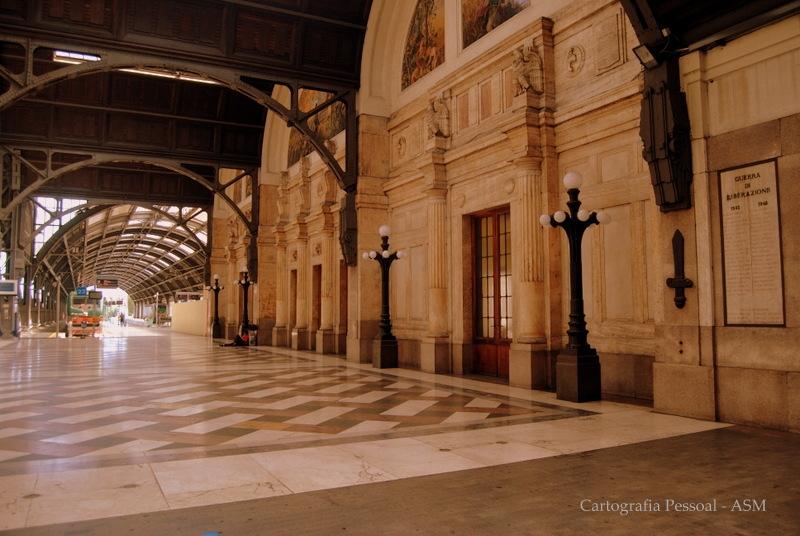 Estação central de Milão.