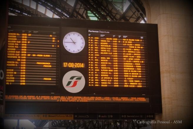 O meu comboio para Trieste foi o das 12:05.