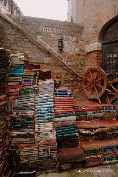 Livraria Acqua Alta, Veneza.