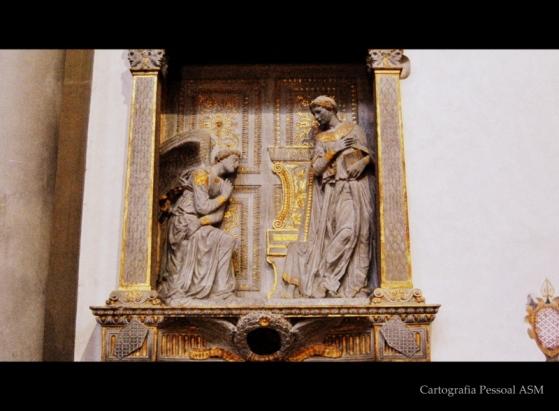Donatello, «Annunciazione della Vergine» (1443-1435).