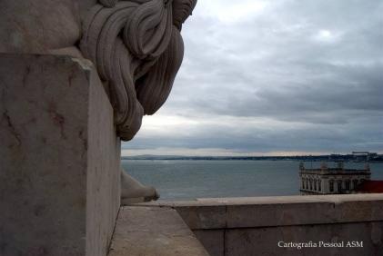 O Tejo desde o topo do Arco da Rua Augusta, Lisboa.