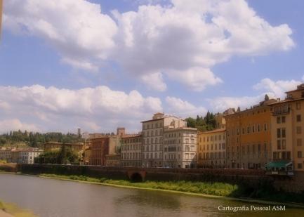O rio Arno, Florença.