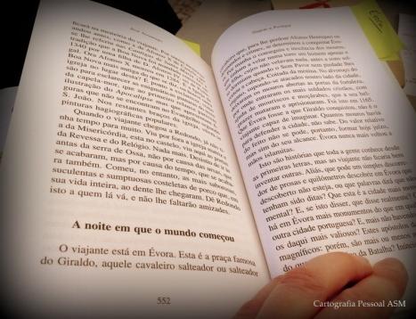 Em plena praça página do Giraldo 552 de Saramago.