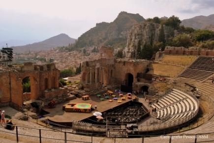 O teatro grego em Taormina.