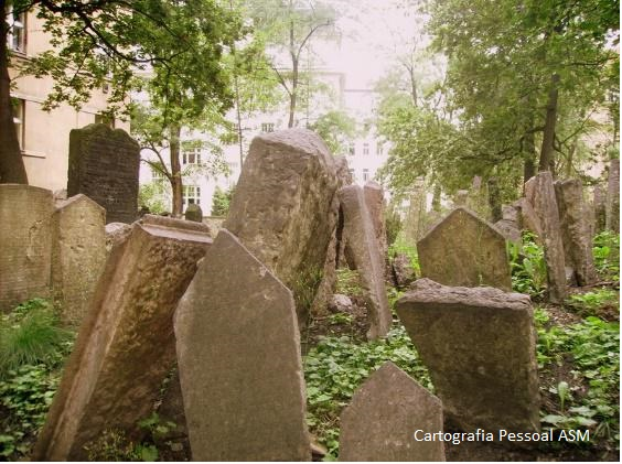 Cemitério judeu em Praga.