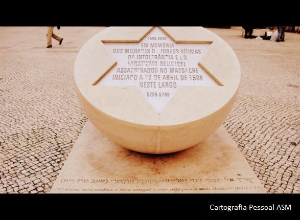 Memorial dedicado aos judeus vítimas do massacre de 1506, em pleno centro da cidade de Lisboa.