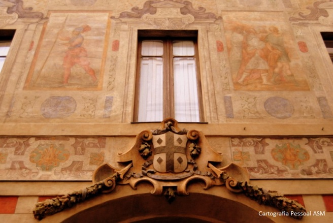Palazzo Scaglia di Verrua, na via Stampatori, n.º4.
